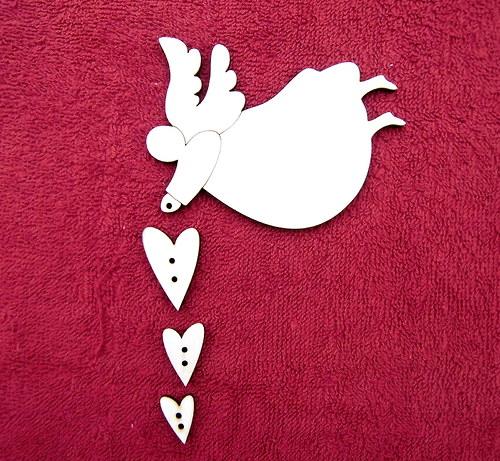 Závěsná dekorace anděl+srdce č. 4