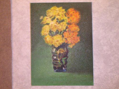Květy ve váze olejová malba