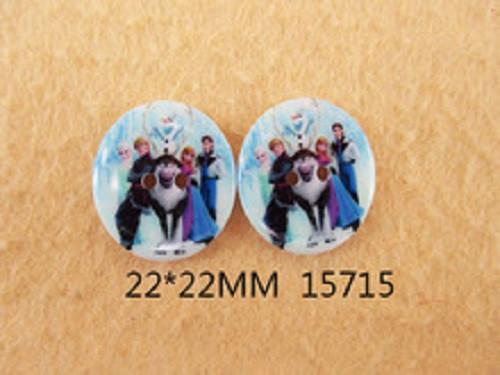 Dřevěný knoflíček Frozen 22x22 mm
