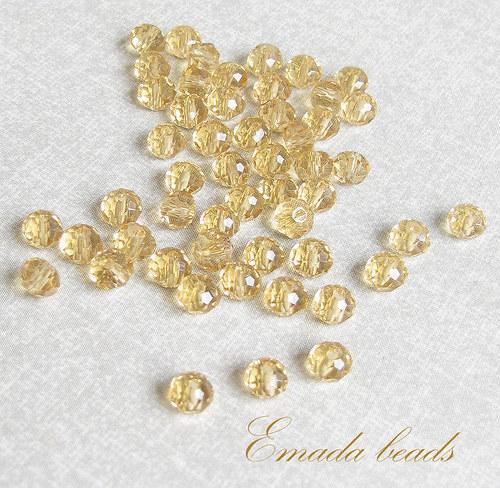 Broušené rondelky, písková 0,5 x 0,4 cm
