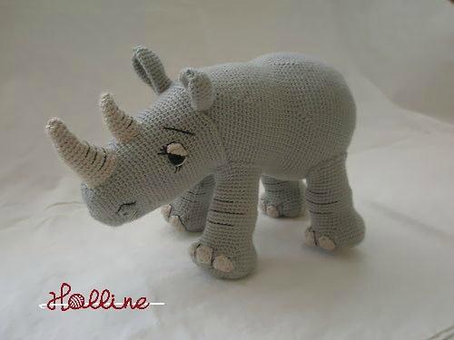 Návod: Háčkovaný nosorožec
