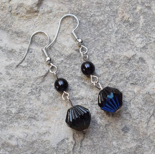 Černé s modrou