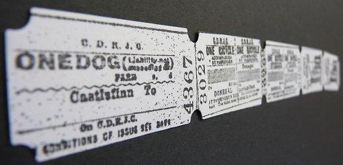 Výseky - lístky, jízdenky