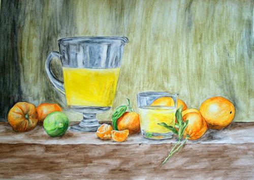 Zátiší s pomeranči