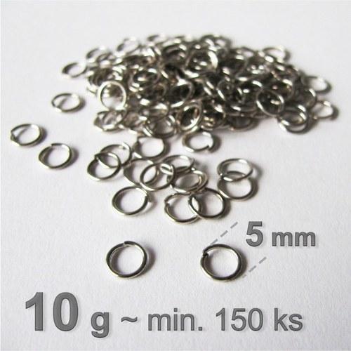 Spojovací kroužky Ø 6mm platinové - 10g=min.150ks