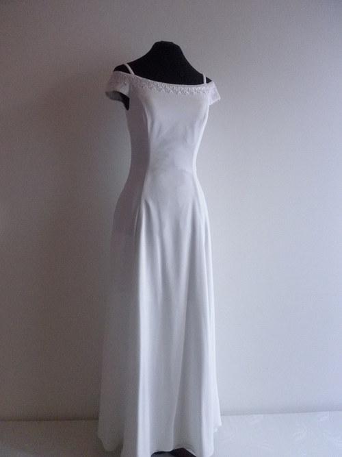 Svatební jednoduché šaty 22 - vel.38