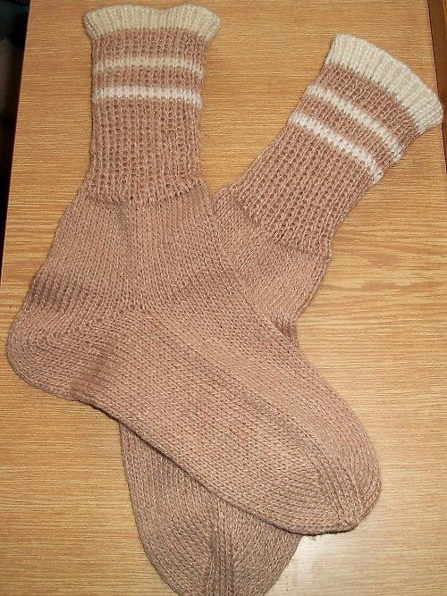 Ponožky béžové vel. 34/35
