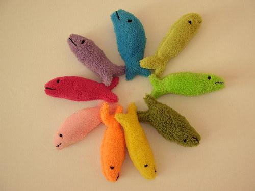 rybky plněné šantou kočičí