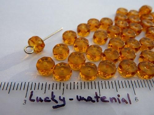 Rondelky oranžové 3 x 6 mm .... 50 ks