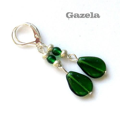 Náušnice Zelené slzičky