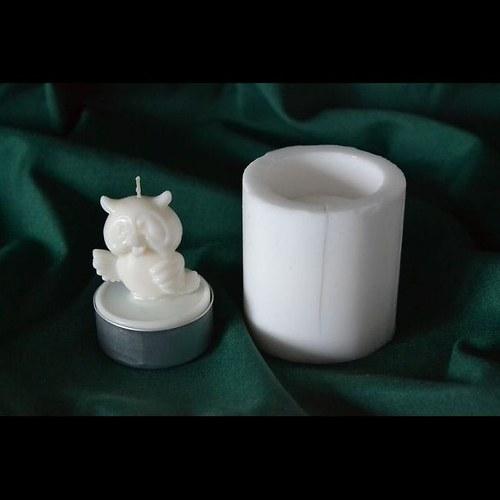 Silikonová. forma na čaj. svíčku - Sova