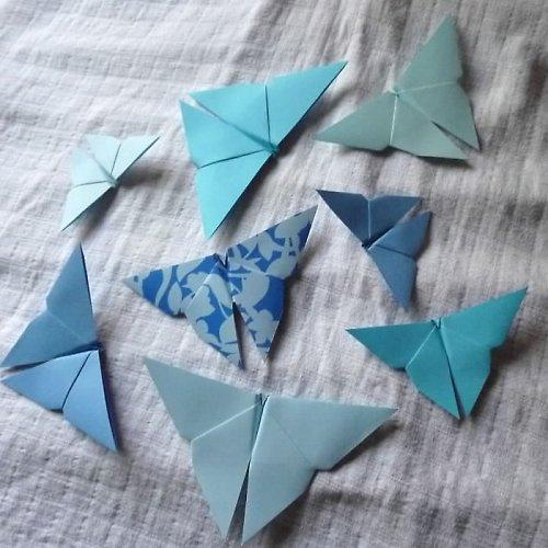 Butterflies in blue