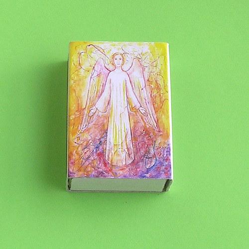 Obrázkové zápalky - anděl barevný