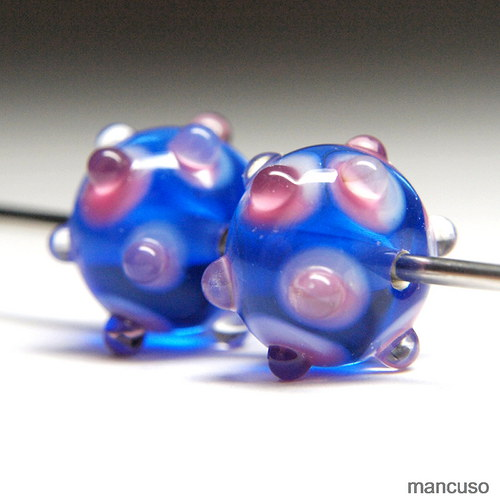 modrá s růžovým melirem
