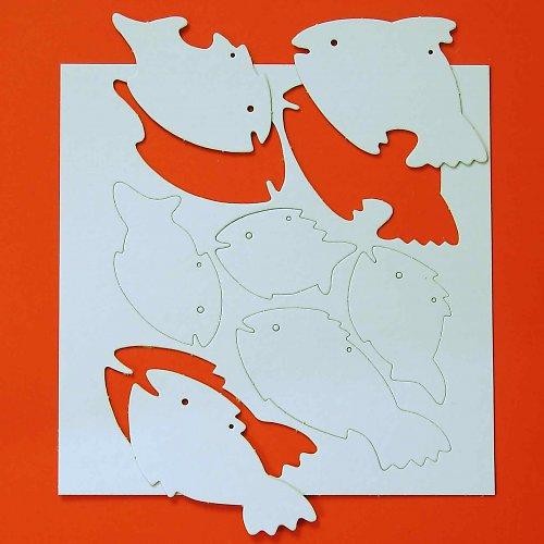 Závěsné rybky 3 archy