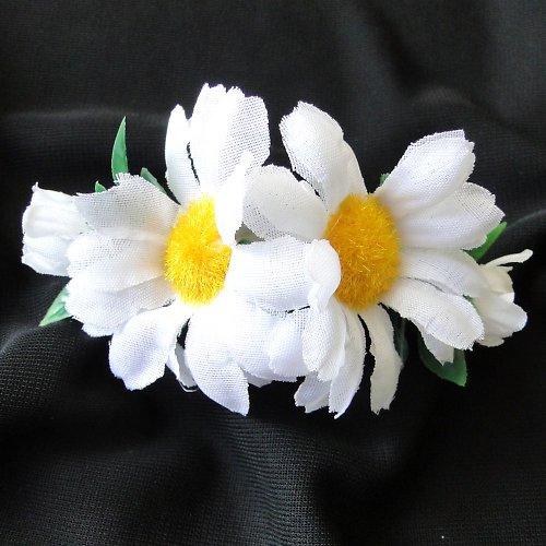 Květinová spona kopretinová  - SLEVA!!!