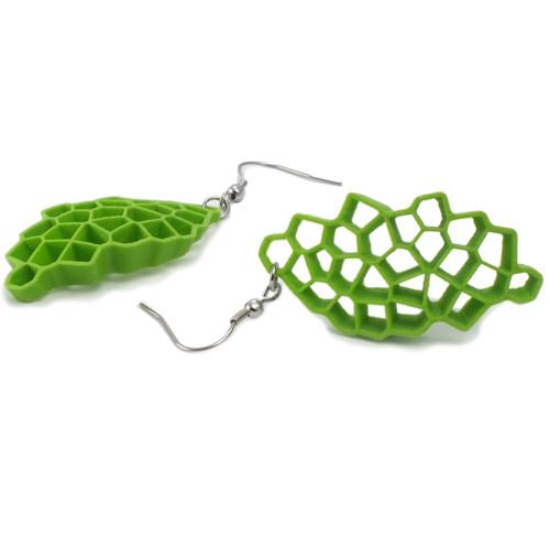 Náušnice voronoid green