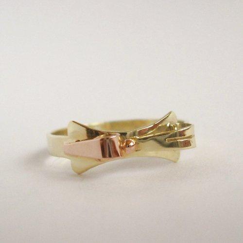 Bouře (celozlatý prsten; 585/1000; 2,30 g)
