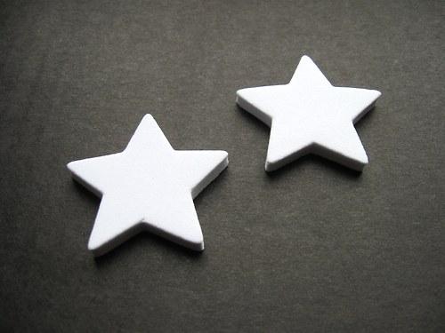 Výsek z pěnové gumy - hvězda bílá