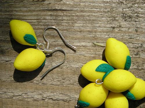 Citrony - náušnice malé