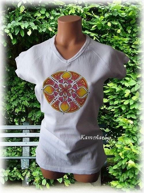 dámské tričko - mandala Lásky
