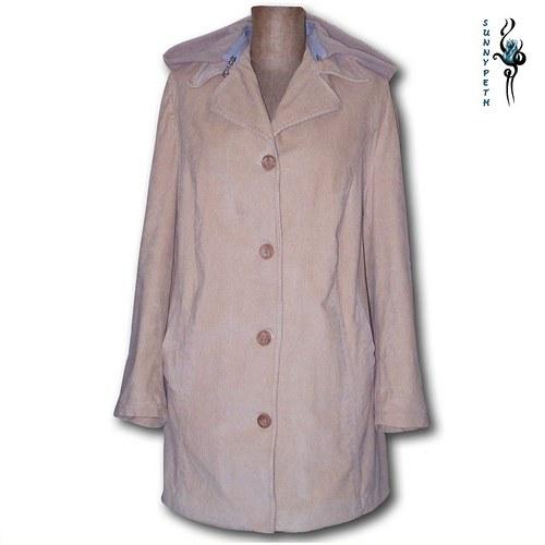 Kordový hřejivý kabát/sako -SLEVA