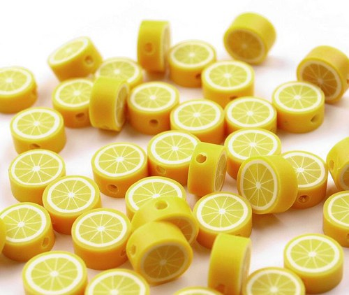 Korálek z fima  - citron
