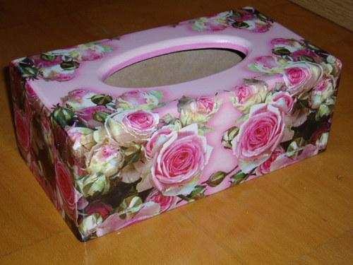 Krabička na kapesníky Růže