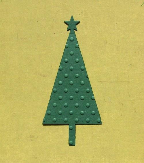 Vánoční stromeček plošný embosovaný