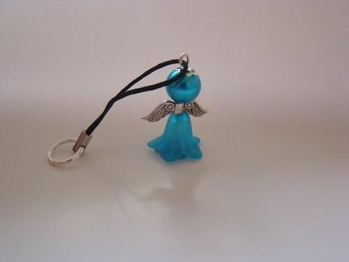 Přívěsek s andělem - modrý