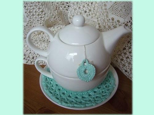 Čaj o páté - mint - podhrníček