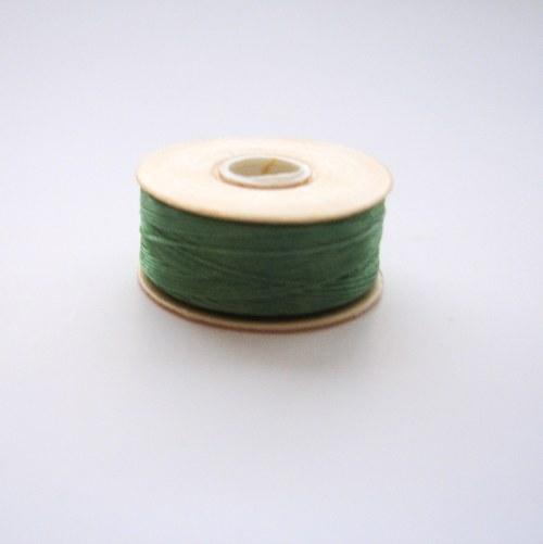 Nymo nit 0,3 mm - zelená - 1 ks