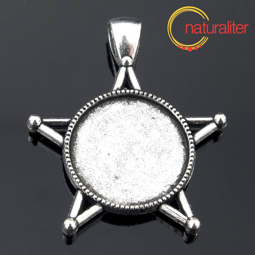 Lůžko s pentagramem kruh 20mm starostříbro