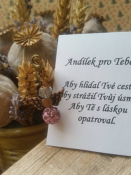 Andílek  pro radost s citátem  (116)