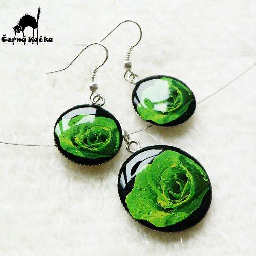 Zelené růže (komplet)