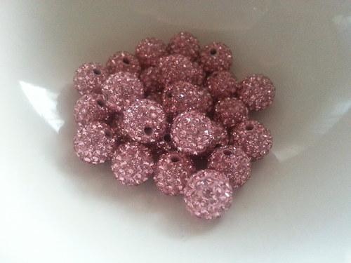 Nádherné shamballa korálky sweet pink