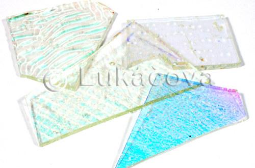 Fusing dichro sklo, mix střep - ČIRÉ, 20g