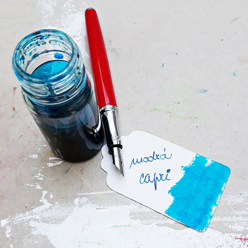 Inkoust - modrá capri