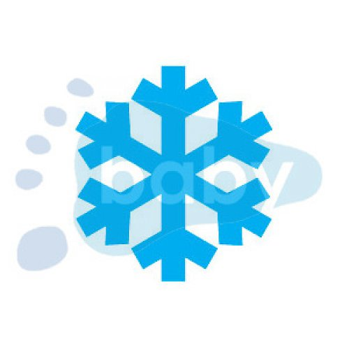 Razítko sněhová vločka 3 3 x 3