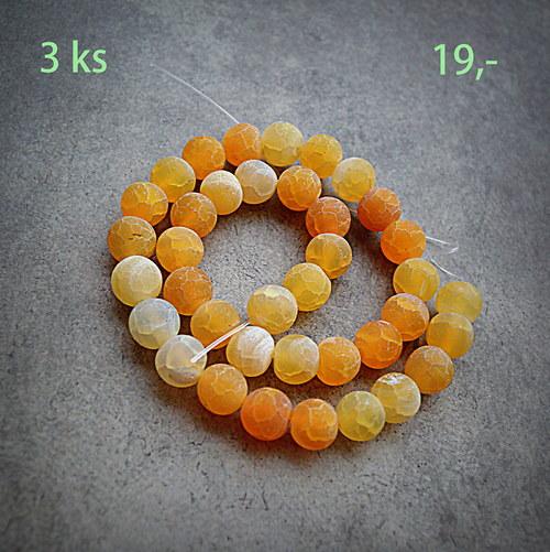 Dračí achát - kuličky 10 mm - cena za 3 ks