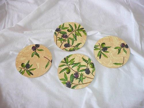 Podtácek pod hrneček - olivy