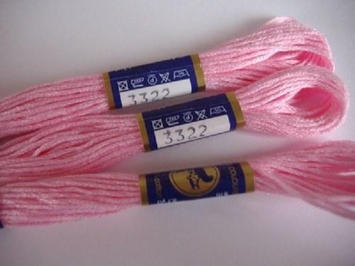 Vyšívací příze mouline - světle růžová