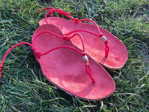 Huarache sandály polepené kůží