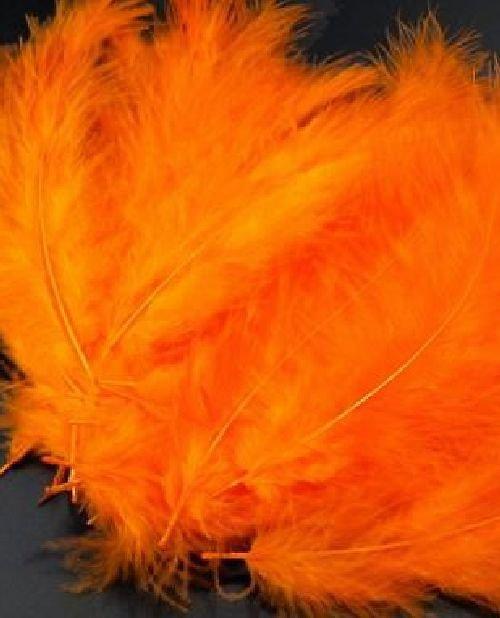 Ozdobné peří 12-17 cm: Oranžová