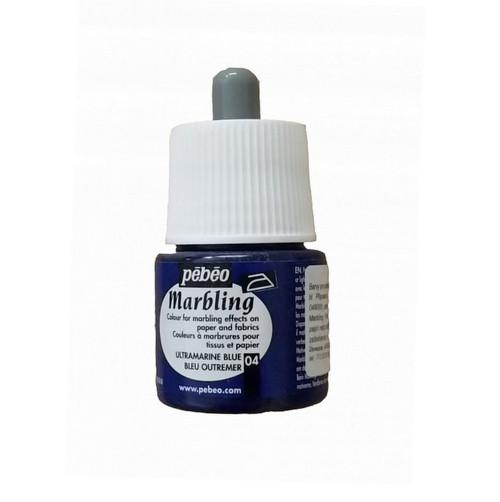 Marbling barva Pebeo / 45 ml / Ultramarine Blue
