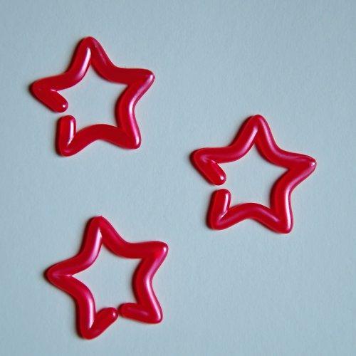 Růžové hvězdičky sada 3ks