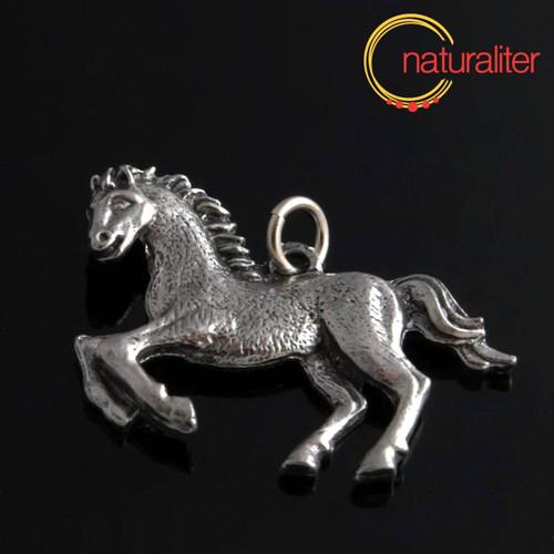 Kůň - přívěsek starostříbro 27x35mm