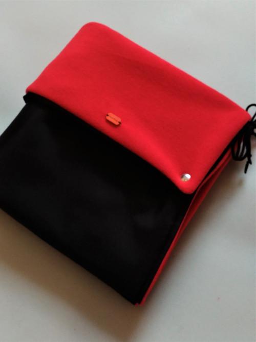 Nepadající deka- černá x červená