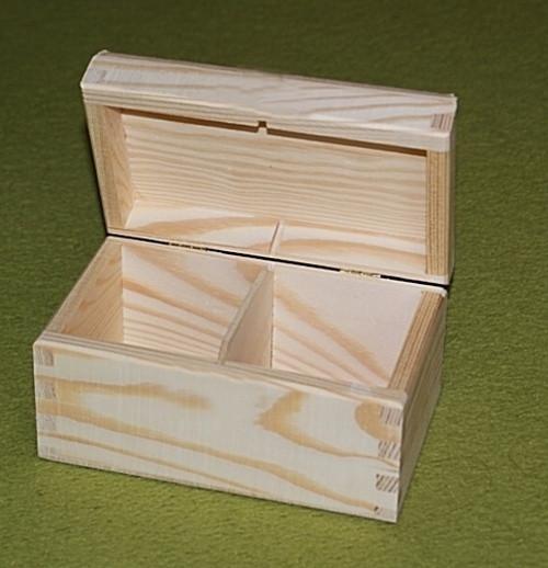 Krabička na čaj - 2 komory BZ  (PHU-CAJOVKA-2-BZ)