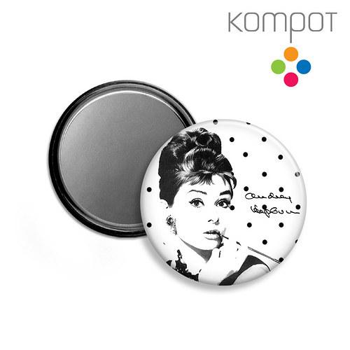 ZRCÁTKO :: Audrey Hepburn - černé puntíky